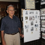 Myron with pictures from his teaching career at Talmage.